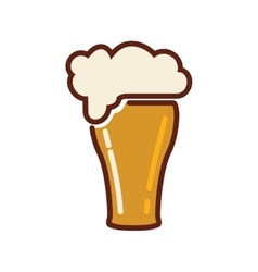Glass beer drink beverage alcohol icon vector
