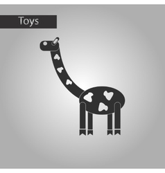 Black and white style toy giraffe vector