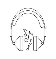 Isolated music note and headphone design vector