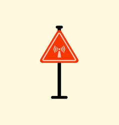 network badge road sign wifi traffic symbol vector image