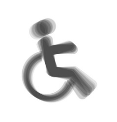 Disabled sign   gray icon vector