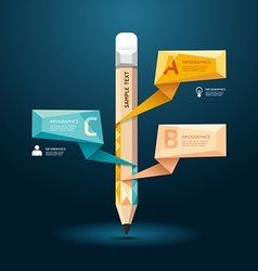 Geometric modern design pencil style infographic vector