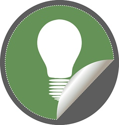 Light bulb icon vector