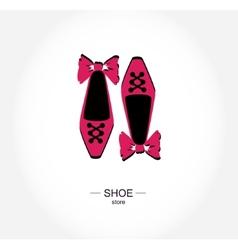 Logo shoe store shop boutique label vector image
