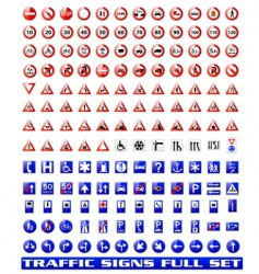 Traffic signs set 1 vector