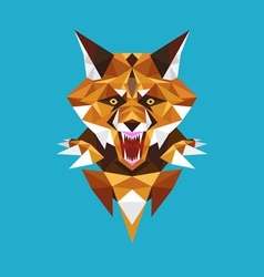 Wolf head polygon geometric vector