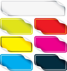 colored stickers vector image