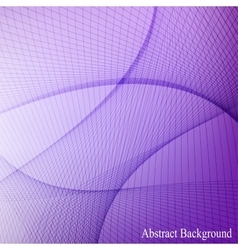 Abstract curved lines on blured background vector image