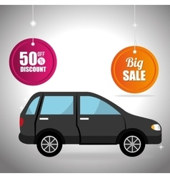 Buy or rent a car business vector
