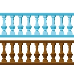 Wood and stone railing vector
