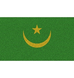 Flags mauritania on denim texture vector