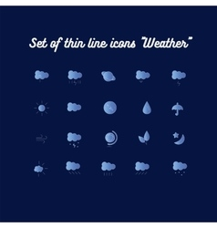 Set icon weather vector