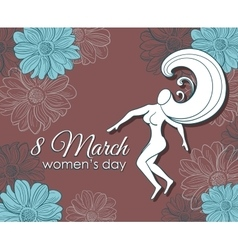 8 march womens day postcard vector