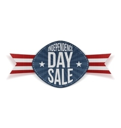 Independence day sale scratched banner vector