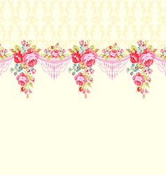 Abstract background with roses seamless border vector