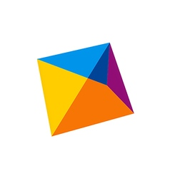 Abstract shape geometry logo vector