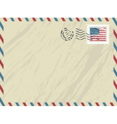 American airmail envelope vector image