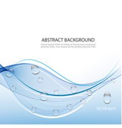 Aqua backgroundblue waves with drops vector