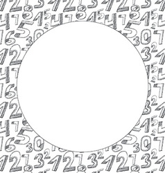 Background Black numbers on a white background vector image vector image