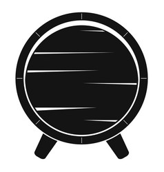 Barrel on legs icon simple style vector