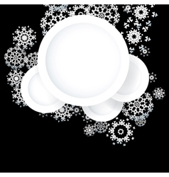 Black and White Christmas card EPS10 vector image