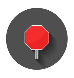 Blank red stop sign icon empty danger symbol with vector