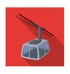 Cable car funicular for climbing in the mountains vector