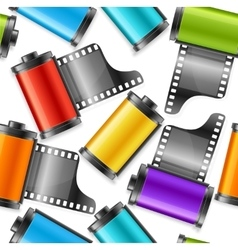 Camera film roll cartrige background pattern vector
