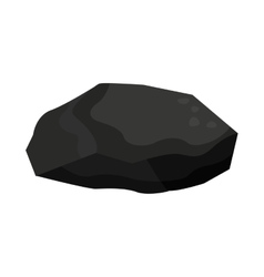 Charcoal rock isolated icon design vector