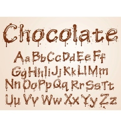 chocolate alphabet font vector image