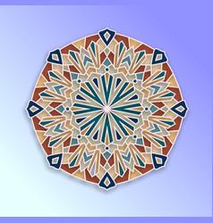 colorful arabesque geometric design vector image