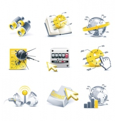 communication icon set internet vector image