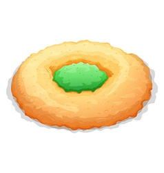Cookie with jam in the middle vector image