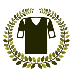 Crown of leaves with shirt american football vector