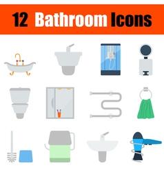 Flat design bathroom icon set vector image vector image