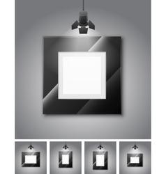 Gallery room vector image vector image