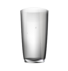 Glass empty glass isolated vector