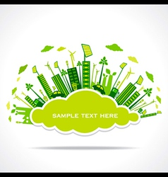 go green or save earth with cloud shape sticker vector image