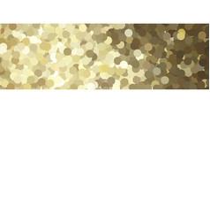 golden glitter border card vector image