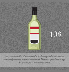 Green liquor alcoholic beverage card vector