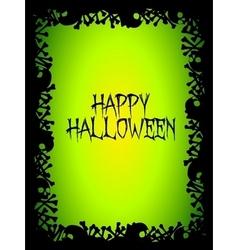 Halloween skull and bones poster vector image vector image