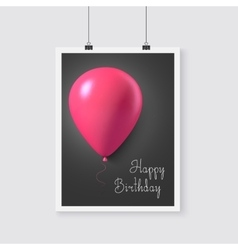 Happy Birthday Poster with Balloons vector image vector image