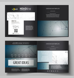 Leaflet cover layout dna and neurons vector
