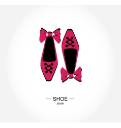 Logo shoe store shop boutique label vector