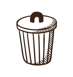 Outdoor trash bin symbol vector