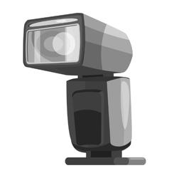 Photoflash icon gray monochrome style vector image vector image