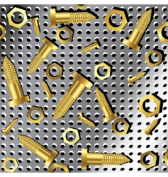 screws and nuts vector image vector image