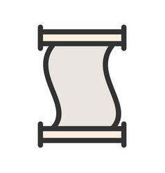 Scroll of paper vector