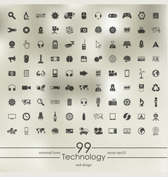 Set of technology icons vector