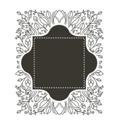 Silhouette border heraldic and decorative ornament vector